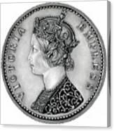 Original Silver Victoria Empress Canvas Print