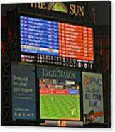 Orioles Game At Camden Yards Canvas Print