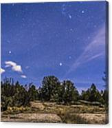 Orion And Sirius Rising Canvas Print