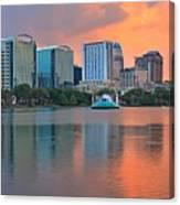 Orlando Cityscape Sunset Canvas Print
