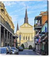 Orleans Street And St Louis Cathedral Canvas Print