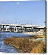 Ormond Beach Bridge Canvas Print
