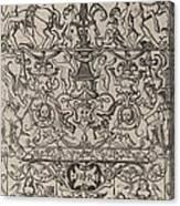 Ornament Panel: Mars, God Of Battles Canvas Print