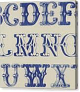 Ornamental Font Canvas Print