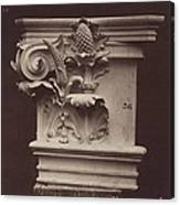Ornamental Sculpture From The Paris Opera House (column Detail) Canvas Print
