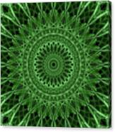 Ornamented Mandala In Green Tones Canvas Print