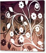 Ornametal 2 Purple Canvas Print