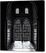 Ornate Alhambra Window Canvas Print