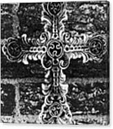 Ornate Cross 3 Bw Canvas Print