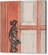 Ornate Door Handle Canvas Print
