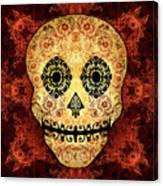 Ornate Floral Sugar Skull Canvas Print