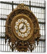 Ornate Orsay Clock Canvas Print