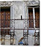 Ornate Weathered Artistic Architecture Canvas Print