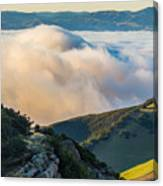 Morning Low Clouds And Hills Canvas Print