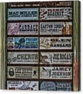 Orpheum Theater Playbill Canvas Print