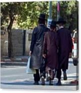 Orthodox Jews In Jerusalem Canvas Print