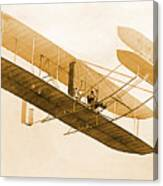 Orville Wright In Wright Flyer 1908 Canvas Print