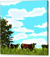 Osage County Cows Canvas Print