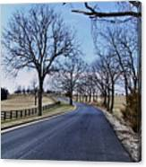 Osage County Road Canvas Print