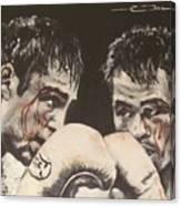 Oscar De La Hoya Vs Manny Pacquiao Canvas Print