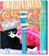 Oscar-kat King Canvas Print