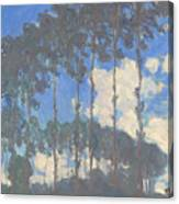 Oscar Monet   Poplars On The Epte Canvas Print