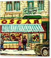 Oscar 's Candy Store Montreal Canvas Print