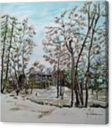 Oslo In Winter Canvas Print