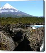 Osorno Volcano From Petrohue Falls Canvas Print