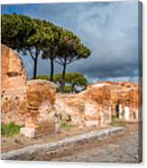Ostia Antica - Strolling The Decuman Canvas Print