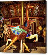 Ostrich Carousel Ride Canvas Print