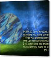 Otherworldly Psalm Forty Vs Five Canvas Print