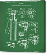 Otoscope Patent 1927 Green Canvas Print