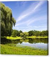 Otsiningo Park Reflection Landscape Canvas Print