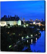 Ottawa At Night Canvas Print