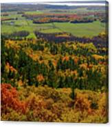 Ottawa River Valley In Fall At Tawadina Lookout At End Of Blanch Canvas Print