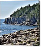Otter Cliffs In Acadia National Park - Maine Canvas Print
