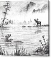 Otter Fog Canvas Print