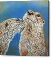 Otter Love Canvas Print