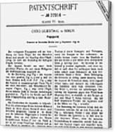 Otto Lilienthal: Patent Canvas Print