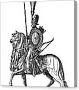 Ottoman Cavalryman, 1576 Canvas Print