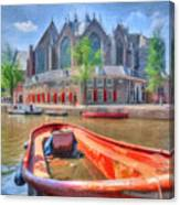 Oude Kerk Canvas Print