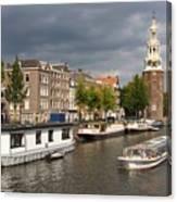 Oudeschans And Montelbaanstoren. Amsterdam. Netheralnds. Europe Canvas Print