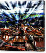 Our City In The Andes Canvas Print