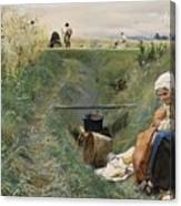 Our Daily Bread Anders Zorn Canvas Print