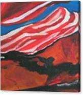 Our Flag Their Oil Canvas Print