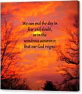 Our God Reigns Canvas Print