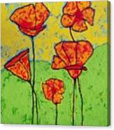 Our Golden Poppies Canvas Print