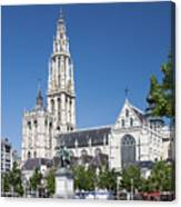 Our Lady Cathedral Antwerp Canvas Print