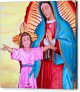 Our Lady Of Guadalupe And Child Canvas Print